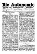 07. Jg. Nr. 198 / 20.08.1892 Die Autonomie London