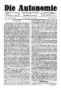 07. Jg. Nr. 199 / 27.08.1892 Die Autonomie London