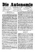 07. Jg. Nr. 200 / 03.09.1892 Die Autonomie London
