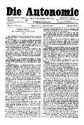 07. Jg. Nr. 201 / 10.09.1892 Die Autonomie London