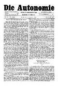 07. Jg. Nr. 202 / 24.09.1892 Die Autonomie London