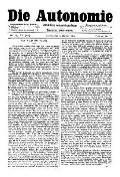 07. Jg. Nr. 203 / 15.10.1892 Die Autonomie London