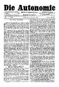 07. Jg. Nr. 205 / 19.11.1892 Die Autonomie London