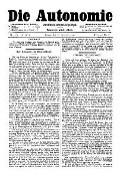 07. Jg. Nr. 206 / 10.12.1892 Die Autonomie London