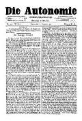 07. Jg. Nr. 207 / 31.12.1892 Die Autonomie London