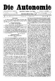 08. Jg. Nr. 209 / 11.02.1893 Die Autonomie London