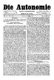 08. Jg. Nr. 210 / 18.02.1893 Die Autonomie London